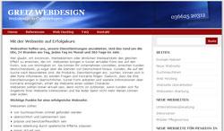 Neue Webseite von Greiz-Design, Marianne Roth, Langenwetzendorf, in Ostthüringen