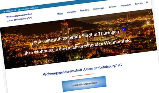Wohnen-lobdeburg.de Wohnungsgenossenschaft in Jena